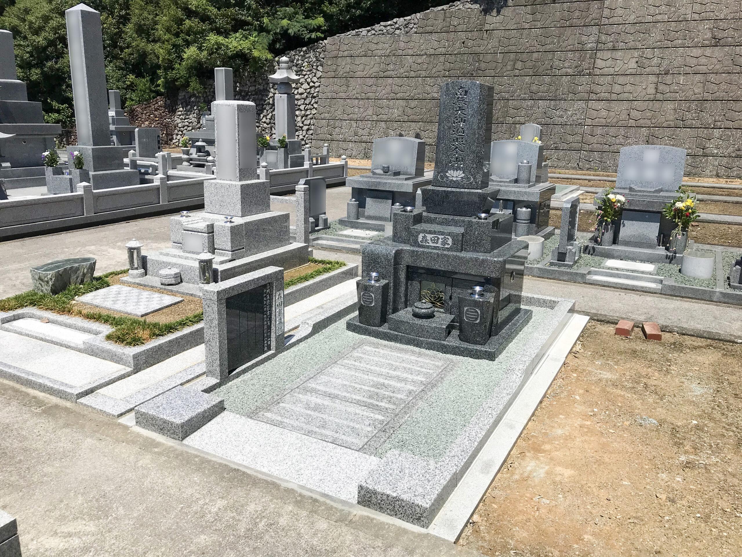 皆様から「良いお墓ができたネ」と言っていただき、私達家族も大満足です